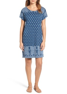 Lucky Brand Border Print T-Shirt Dress
