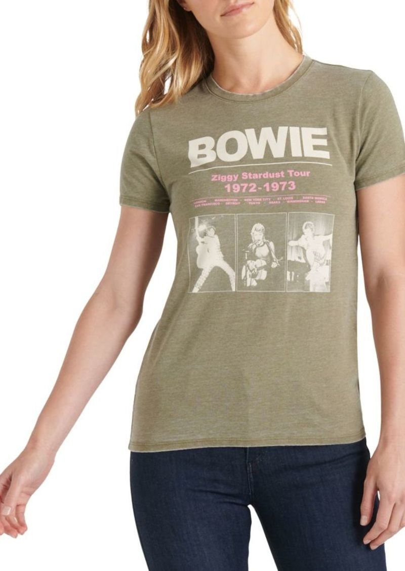 Lucky Brand Bowie Stardust Cotton-Blend Tee