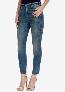 Lucky Brand Bridgette Floral-Print Skinny Jeans