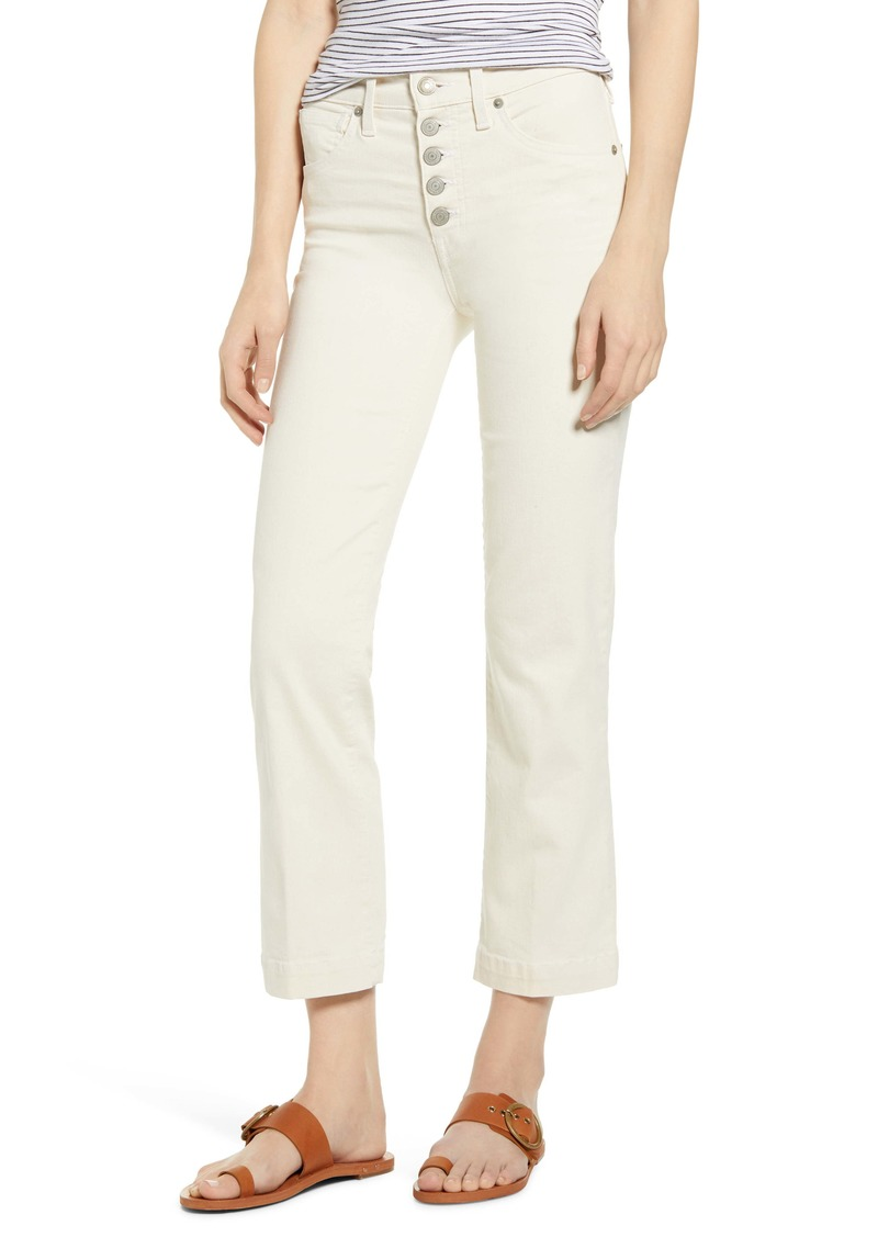 Lucky Brand Bridgette High Waist Crop Jeans (Ecru)
