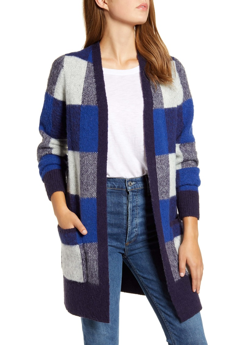 Lucky Brand Buffalo Check Cardigan