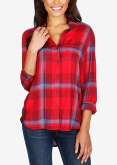 Lucky Brand Button-Detail Plaid Shirt