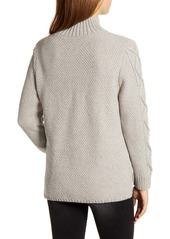 Lucky Brand Cable Knit Turtleneck Cotton & Wool Blend Sweater