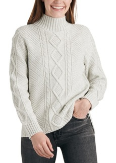 Lucky Brand Cable Knit Turtleneck Sweater