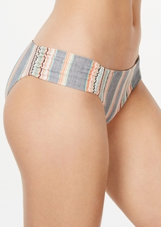 Lucky Brand Cali Casual Printed Shirred Hipster Bottoms Women's Swimsuit