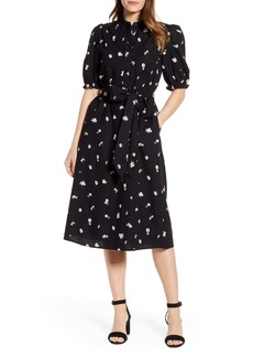 Lucky Brand Camille Daisy Print Cotton Shirtdress