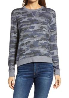 Lucky Brand Camo Cloud Jersey Sweatshirt