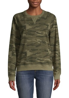Lucky Brand Camo Crewneck Sweatshirt