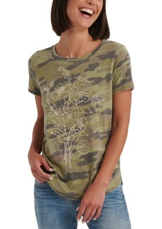 Lucky Brand Camo Floral T-Shirt