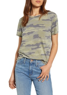 Lucky Brand Camo Print Crewneck Cotton Blend Tee
