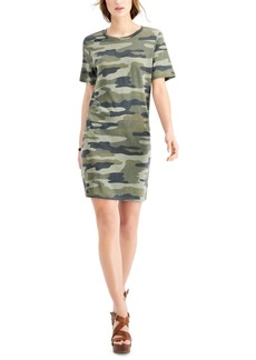 Lucky Brand Camo-Print T-Shirt Dress