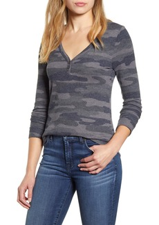 Lucky Brand Camo Print Thermal Shirt