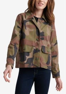 Lucky Brand Camo-Print Utility Shirt Jacket