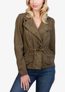 Lucky Brand Canvas Moto Jacket