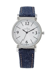 Lucky Brand Carmel Denim Leather Watch