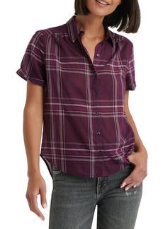 Lucky Brand Checkered Button Front Short Sleeve Shirt