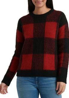 Lucky Brand Checkered Crewneck Sweater