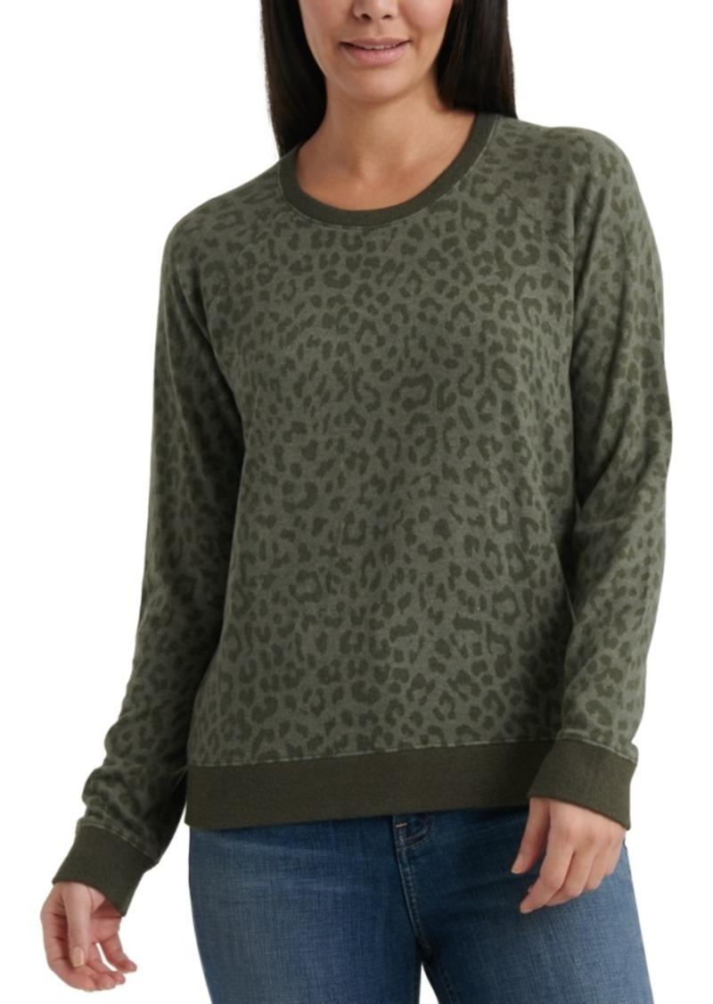 Lucky Brand Cheetah-Print Sweatshirt