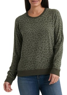 Lucky Brand Cheetah Printed Crewneck Sweater