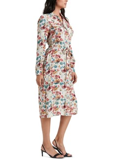 Lucky Brand Chelsea Floral-Print Belted Shirtdress