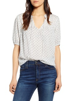 Lucky Brand Clara Tie Neck Blouse