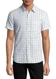 Lucky Brand Checkered Cotton Seersucker Shirt