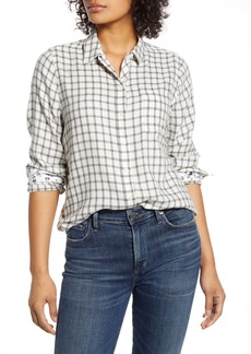 Lucky Brand Classic Plaid Contrast Button-Up Shirt