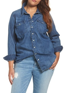 Lucky Brand Classic Western Denim Shirt (Plus Size)
