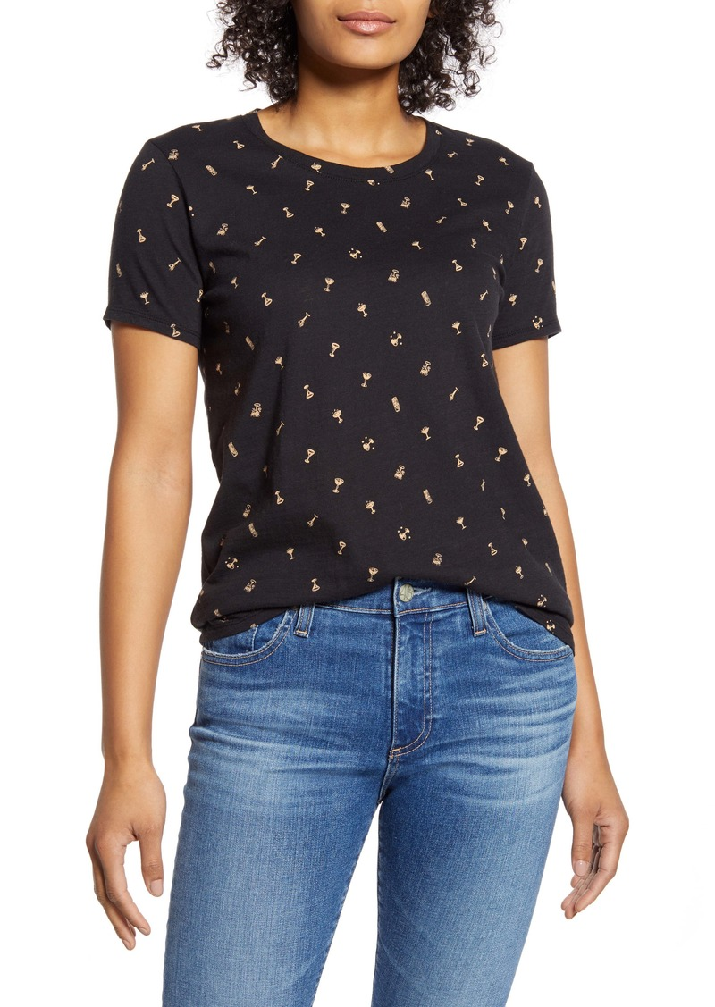 Lucky Brand Cocktail Print Tee