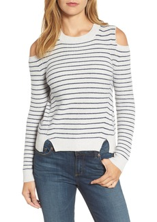 Lucky Brand Cold Shoulder Stripe Sweater