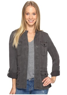 Lucky Brand Collarless Military Jacket