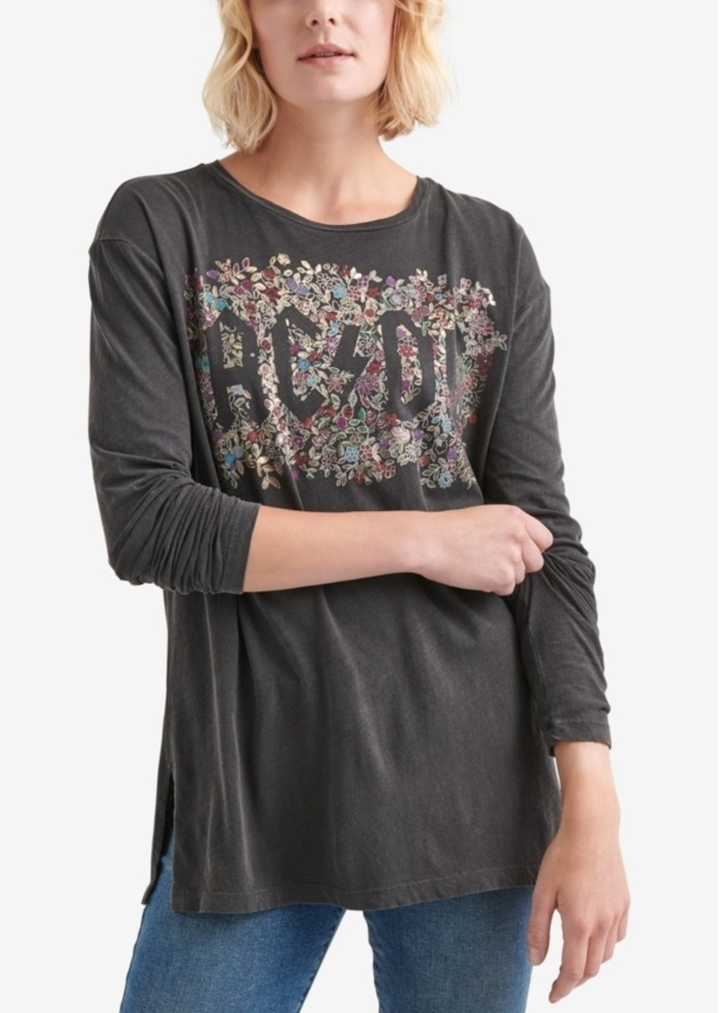 Lucky Brand Cotton Ac/Dc Graphic T-Shirt