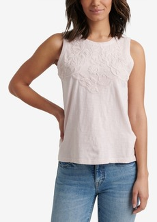 Lucky Brand Cotton Applique Tank Top