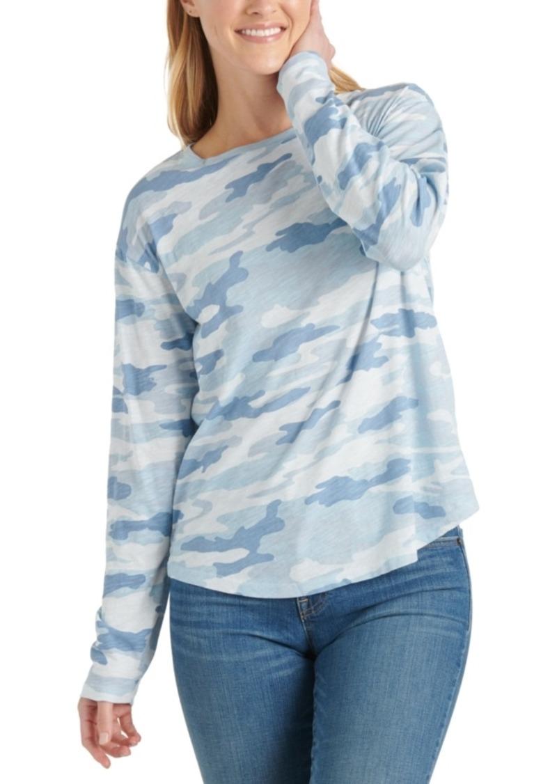 Lucky Brand Cotton Camo-Print T-Shirt