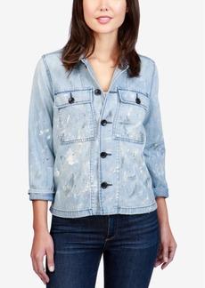 Lucky Brand Cotton Denim Utility Jacket
