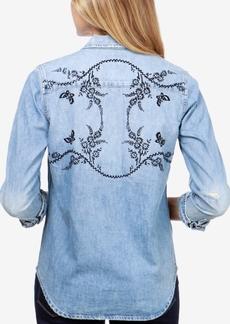 Lucky Brand Cotton Denim Western Shirt