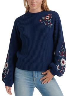 Lucky Brand Cotton Embroidered Sweater