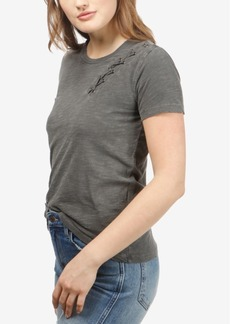Lucky Brand Cotton Lace-Up T-Shirt