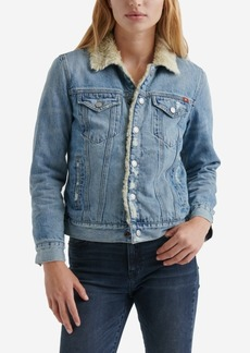 Lucky Brand Cotton Pile-Lined Trucker Jacket