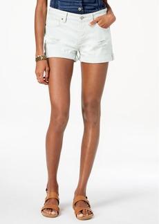 Lucky Brand Cotton Ripped Boyfriend Shorts