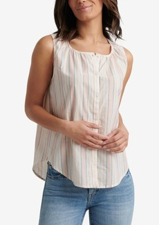 Lucky Brand Cotton Striped Sleeveless Shirt