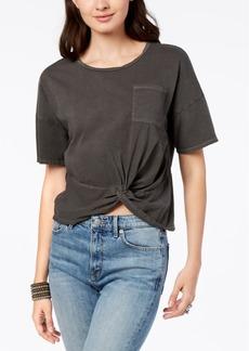 Lucky Brand Striped Twist-Hem T-Shirt