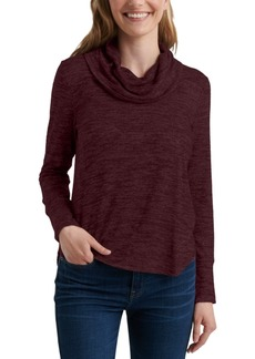 Lucky Brand Cowl-Neck High-Low Top