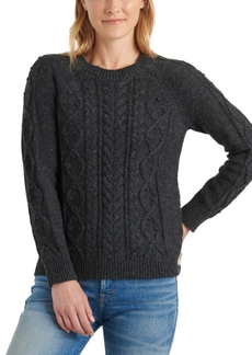 Lucky Brand Crew-Neck Cable-Knit Sweater