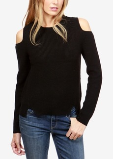 Lucky Brand Crew-Neck Cold-Shoulder Sweater