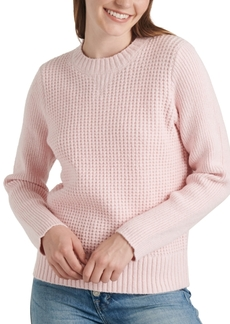 Lucky Brand Crew-Neck Waffle-Knit Sweater
