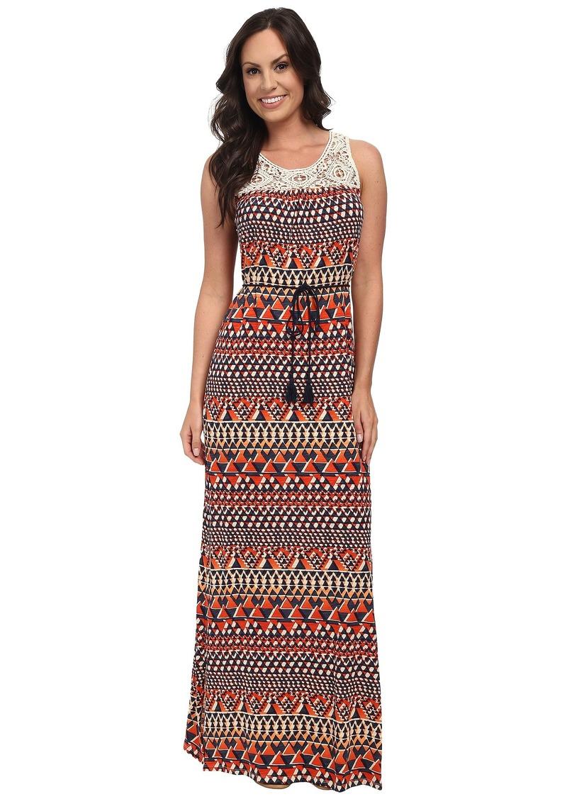 Lucky Brand Crochet Maxi Dress