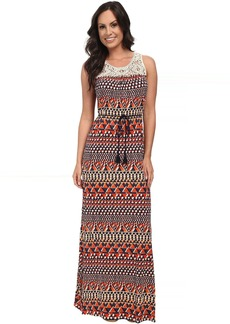 Lucky Brand Crochet Maxi Dress