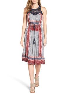 Lucky Brand Crochet Yoke Knit Dress