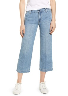 Lucky Brand Crop Wide Leg Nonstretch Jeans (Garford)